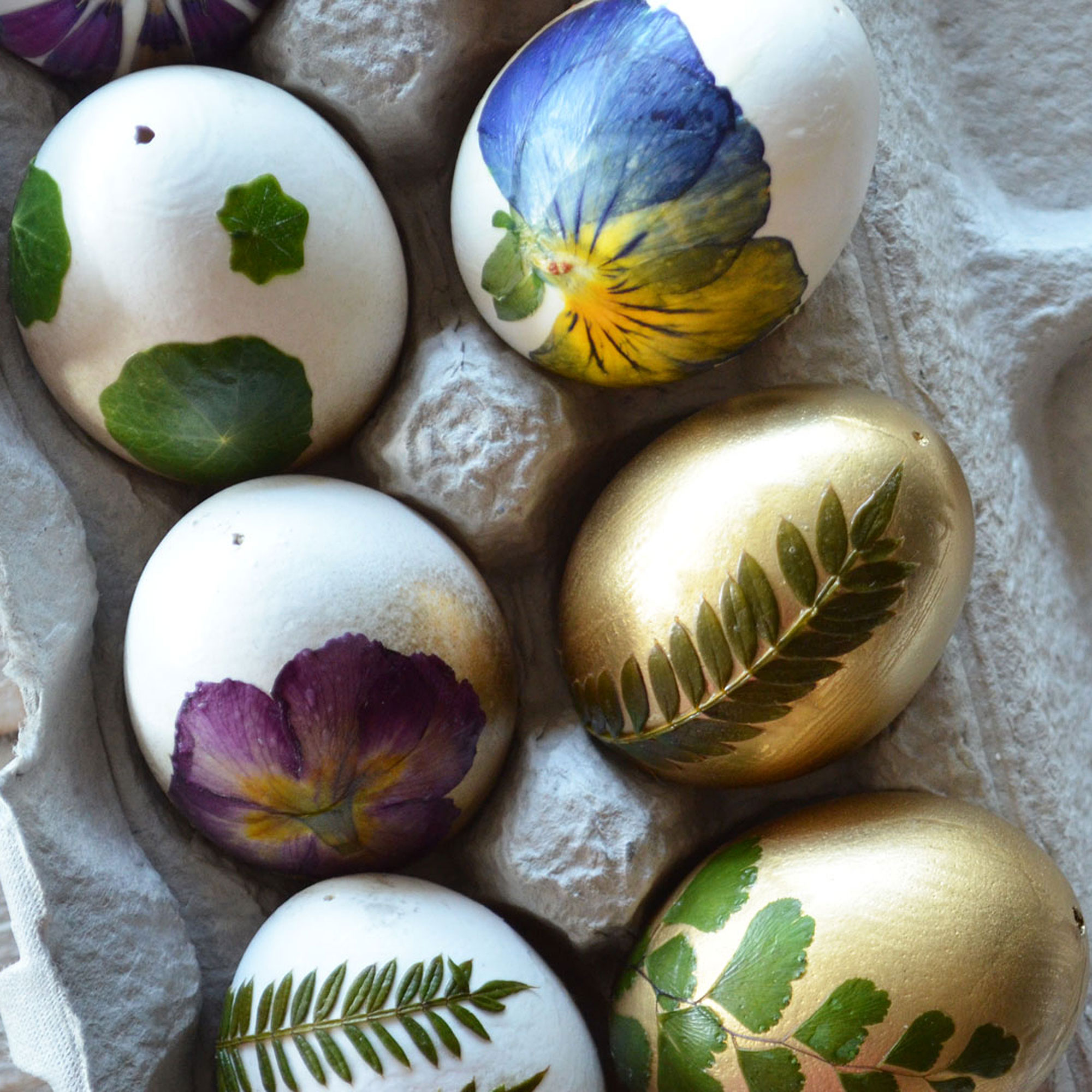How to Make Botanical Easter Eggs