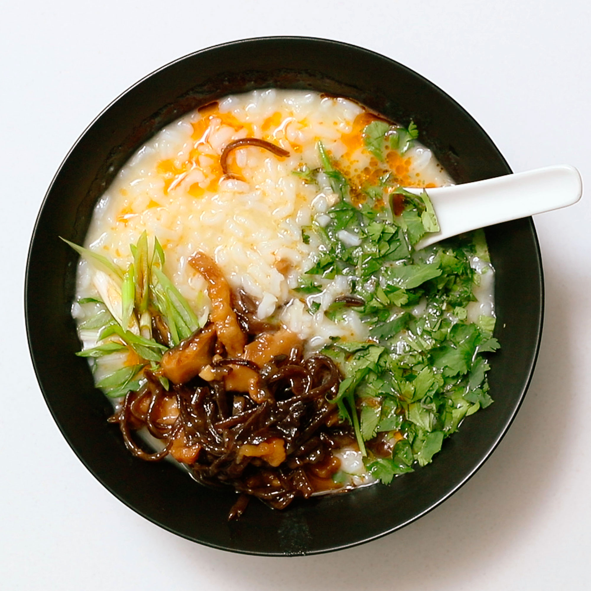 How to Make Pork Congee with Leftover Take-out Rice