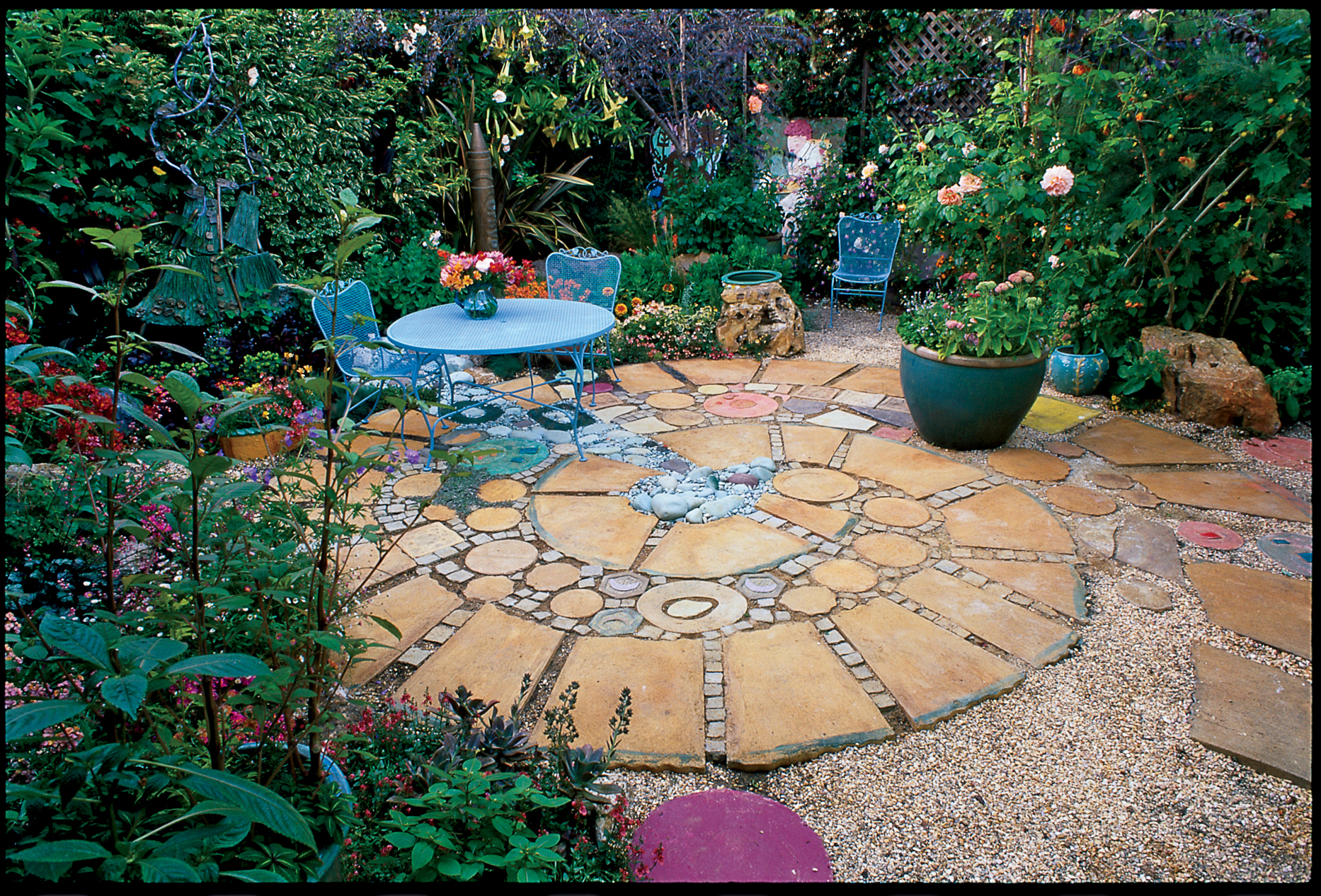40 ideas for patios sunset magazine for Patio landscape design