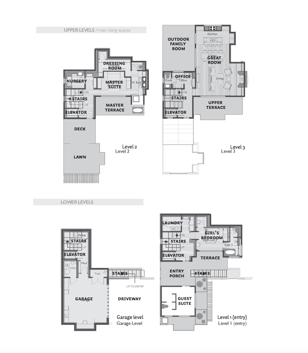 Floor plan: Upper levels
