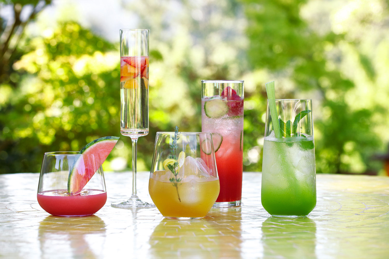 drinks summer party sunset fresh cocktail cocktails food backyard outdoor menus thyme martini magazine weill rachel garden fast wow wine