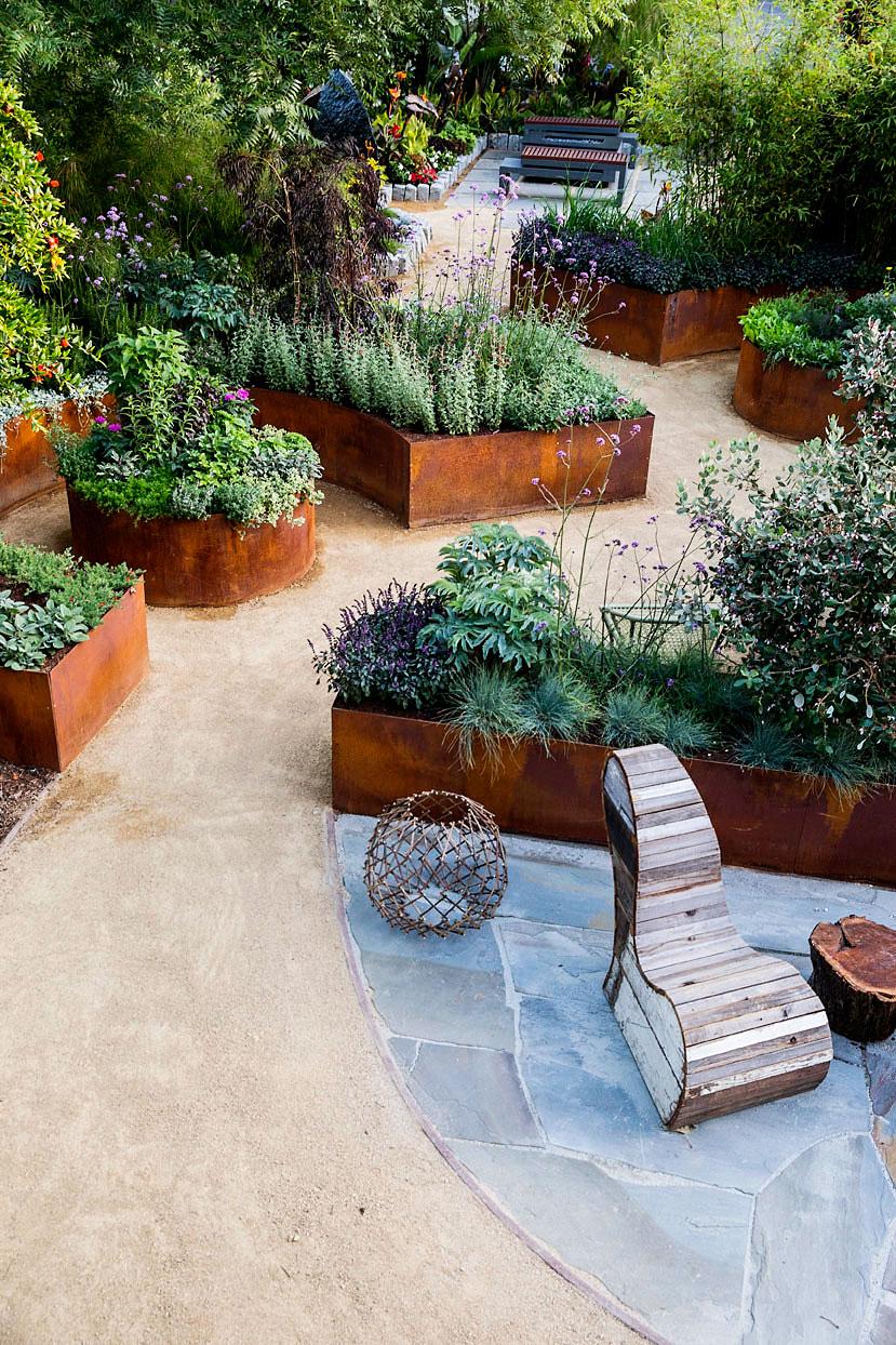 10 design ideas for a tiny edible garden sunset magazine - Small backyard landscaping ideas ...