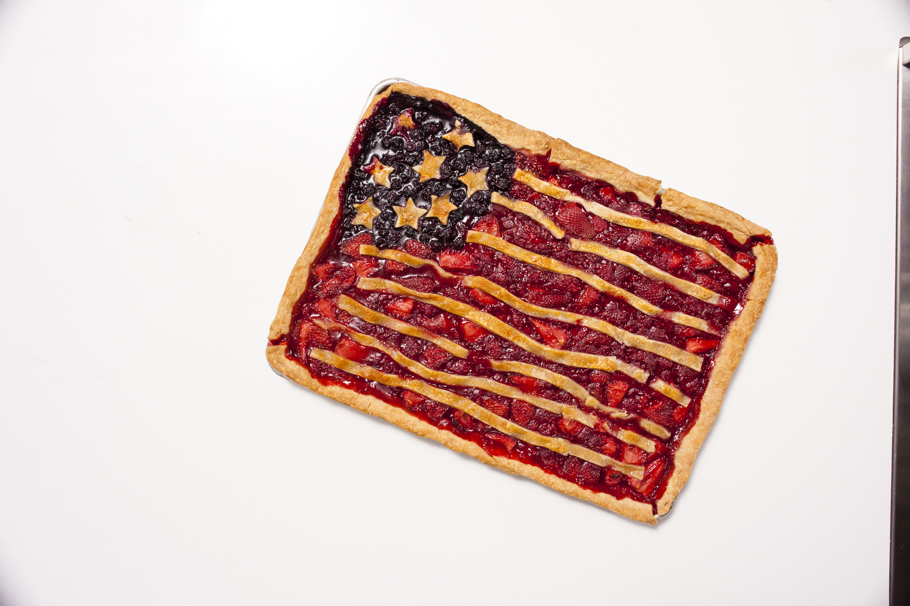 How to Make a Fourth of July Slab Pie