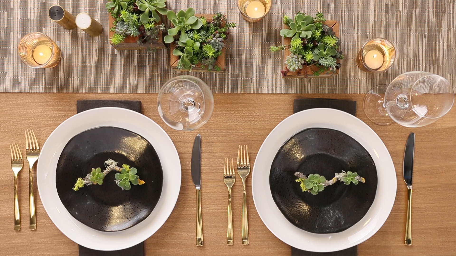 How to Make Succulent Place Settings