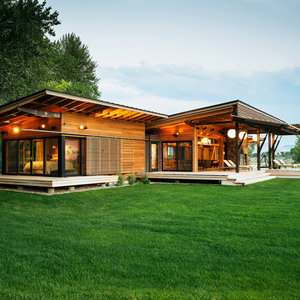 18 ideas to steal from a rustic modern ranch house for Sunset house plans