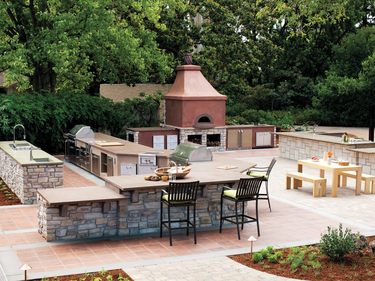 Sunset's outdoor kitchen