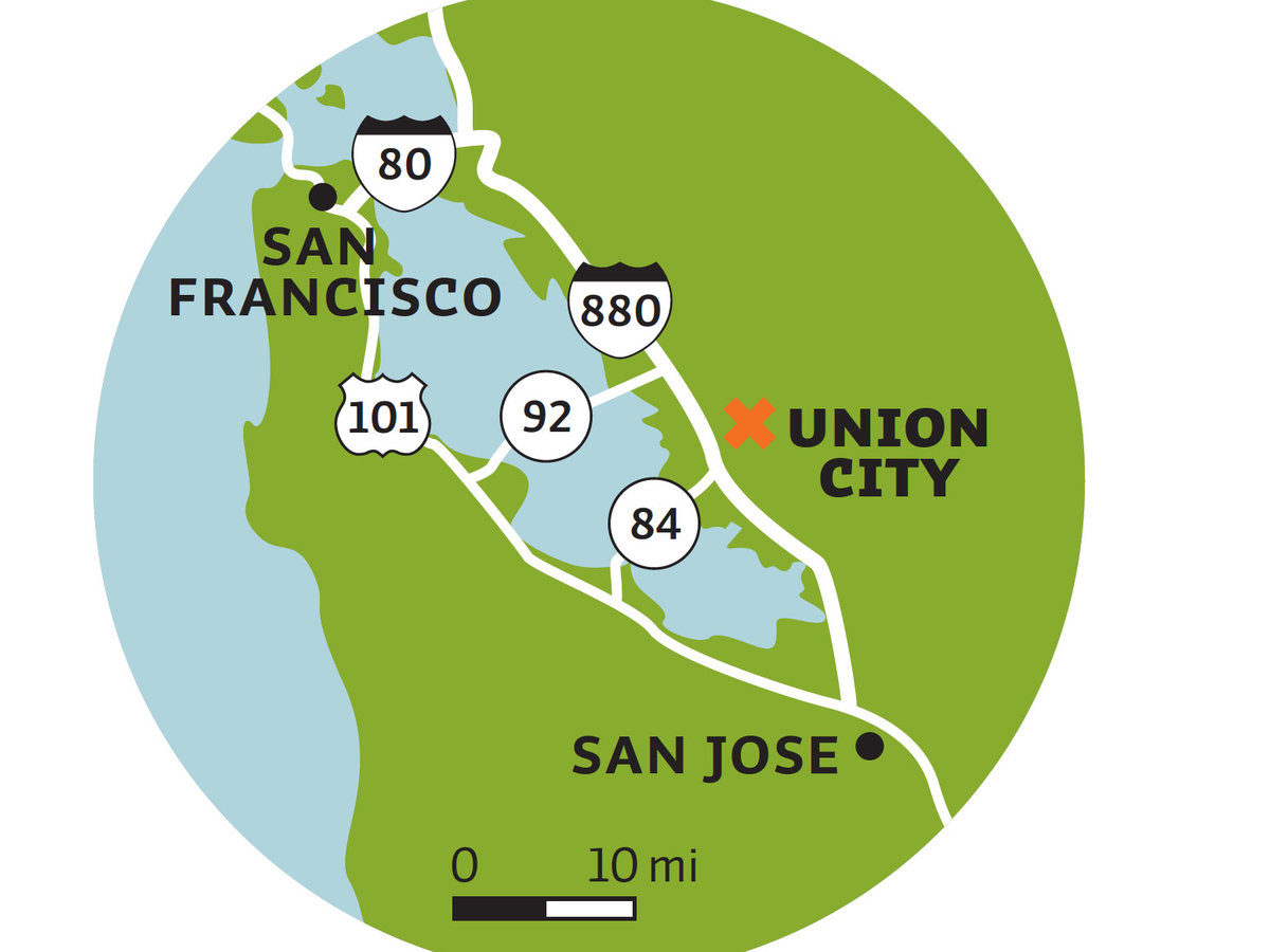 Union City map