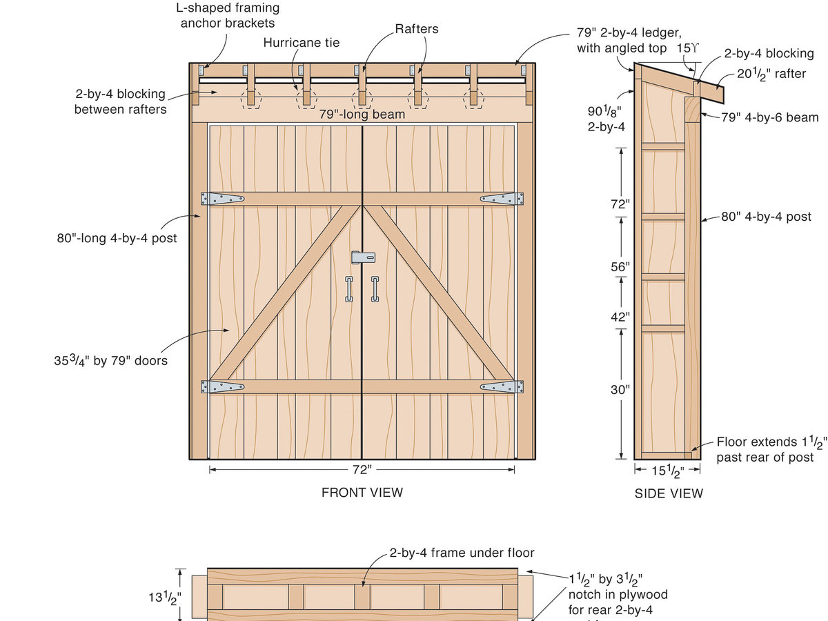 How to make an under-eaves toolshed