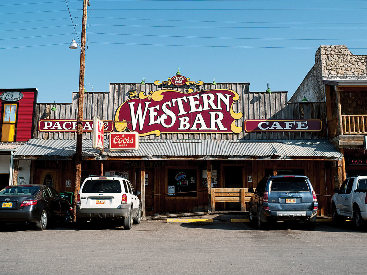 Old West style restaurant