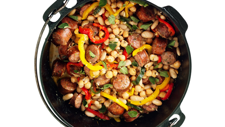 Sausage and Bean Dutch-Oven Stew