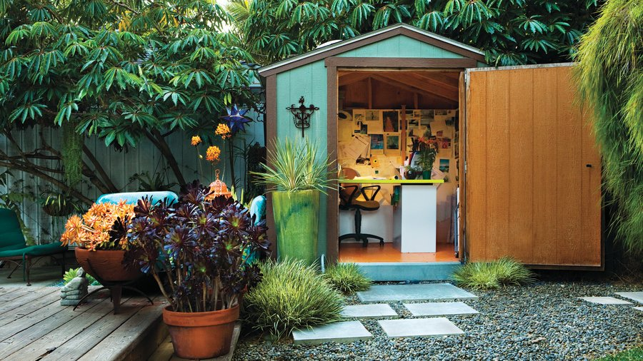 The shed office