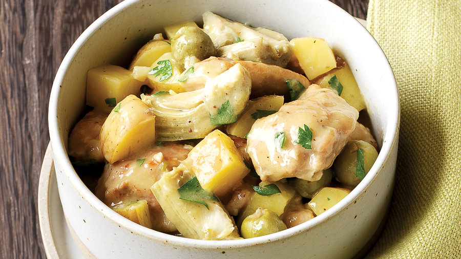 Chicken Stew with Olives and Lemon