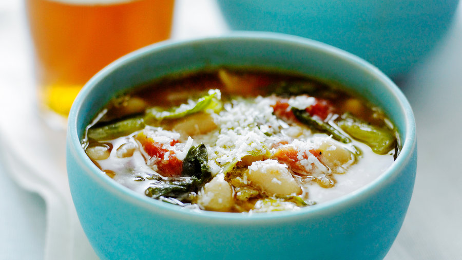 Escarole and Cannellini Bean Stew