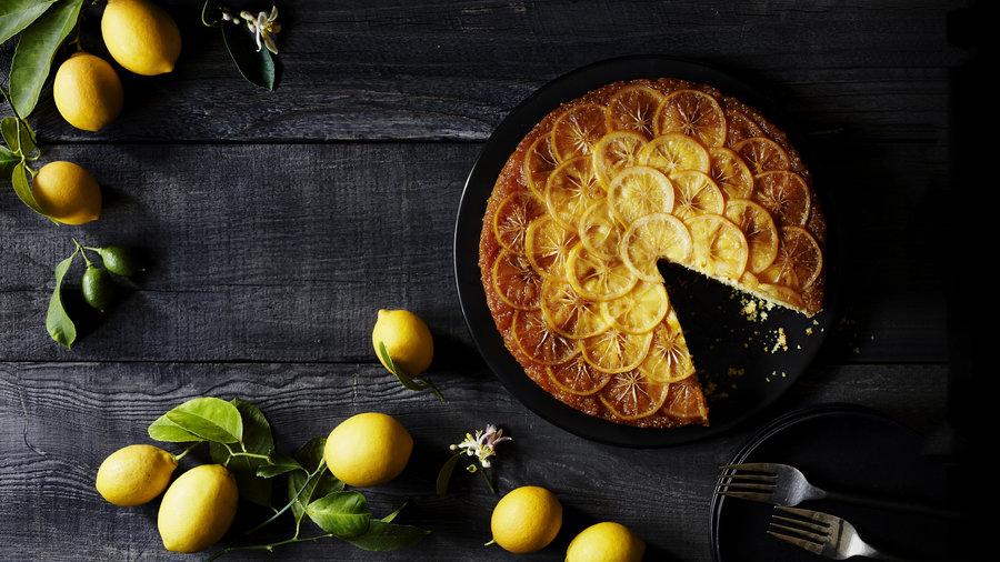 Meyer Lemon Upside Down Cake Sunset