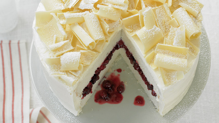 Just-right desserts snow cake
