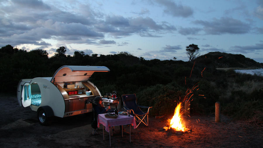 Discover pint size luxury in this teardrop camper