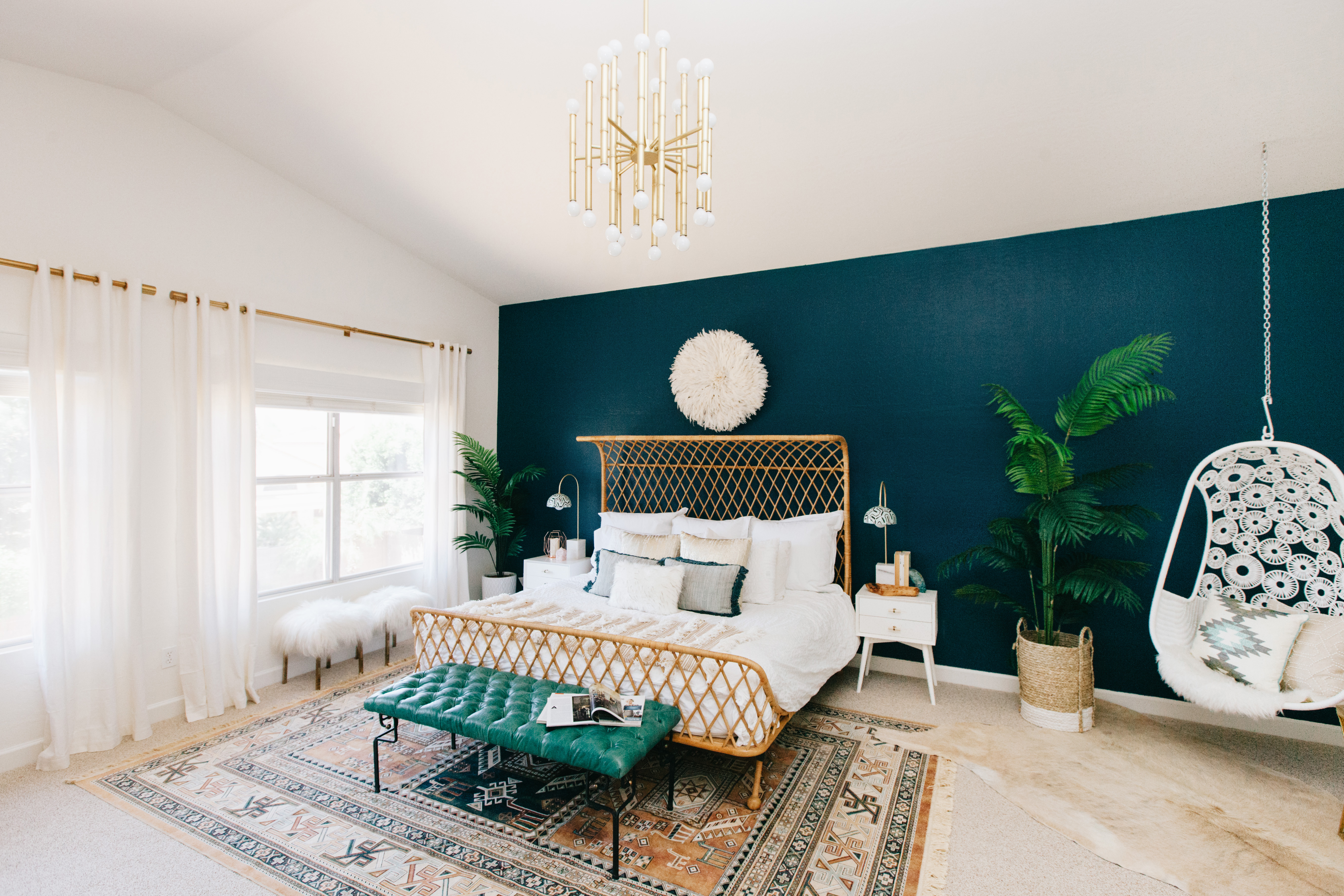 See How A Stylish Duo Designed A Boho Bedroom Completely Online Through  Decorist   Sunset Magazine