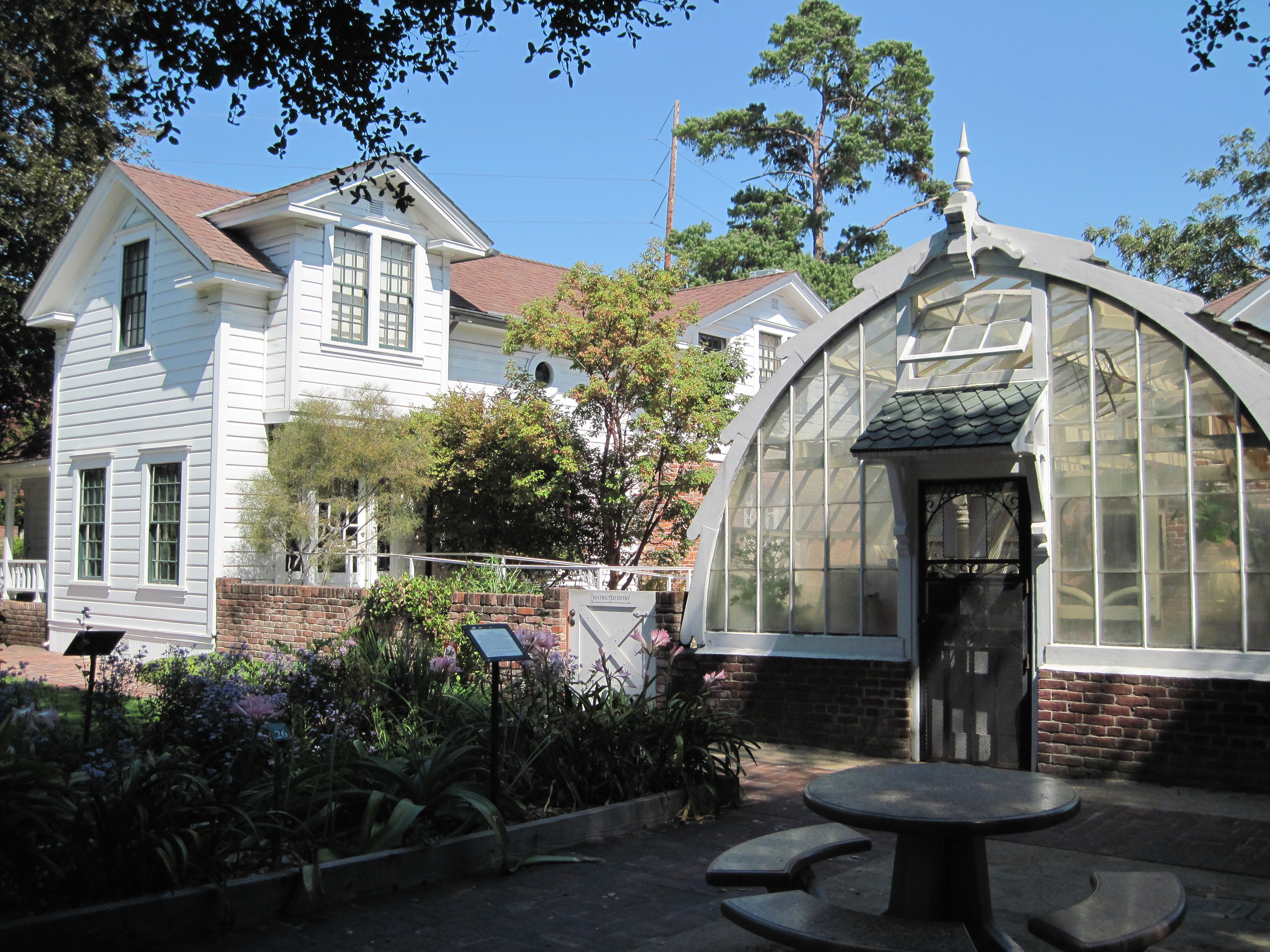 Stroll a historic plaza visit a writer s lair meet a giraffe or two and see where california for Luther burbank home and gardens