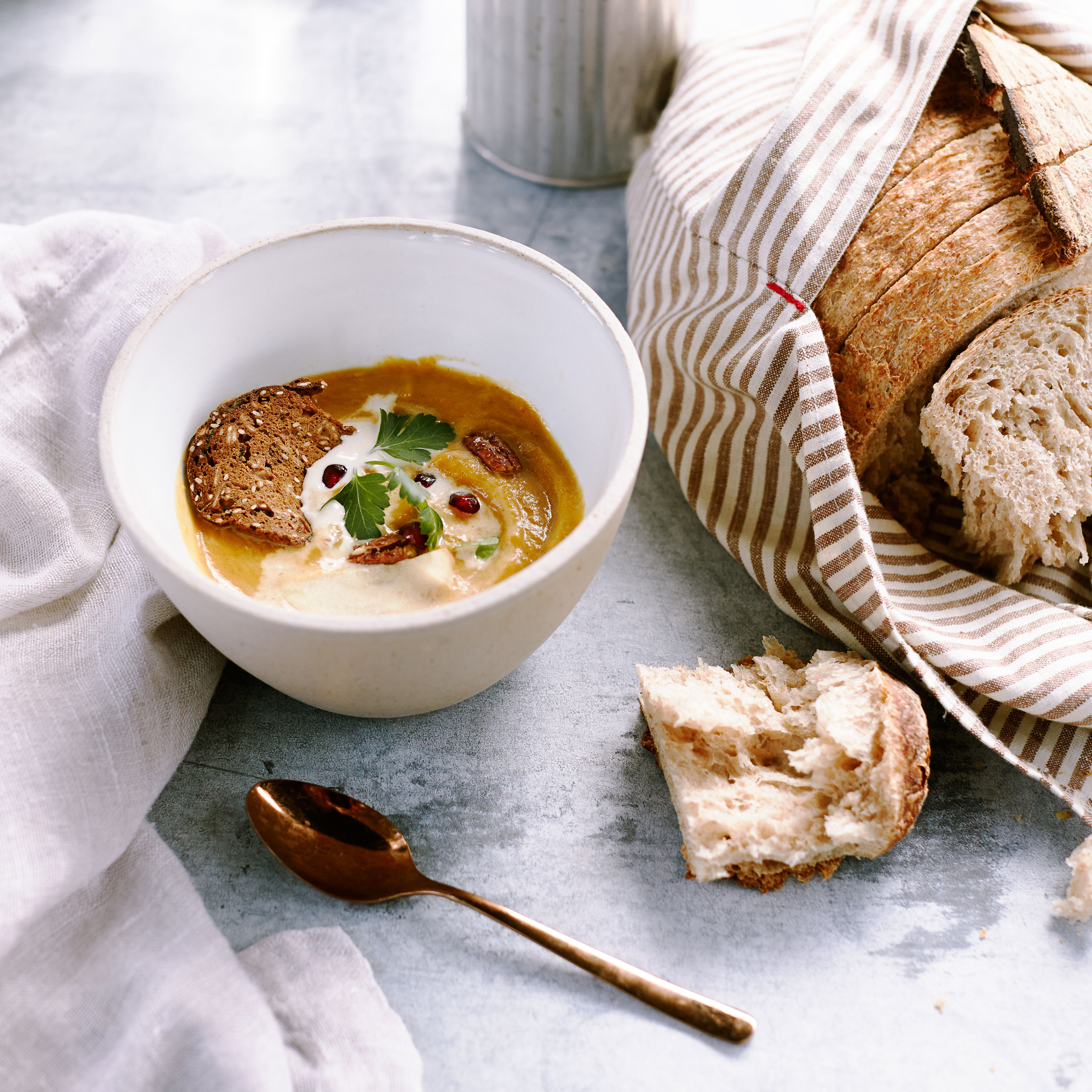 su-Spiced Apple Butternut Squash Soup Image