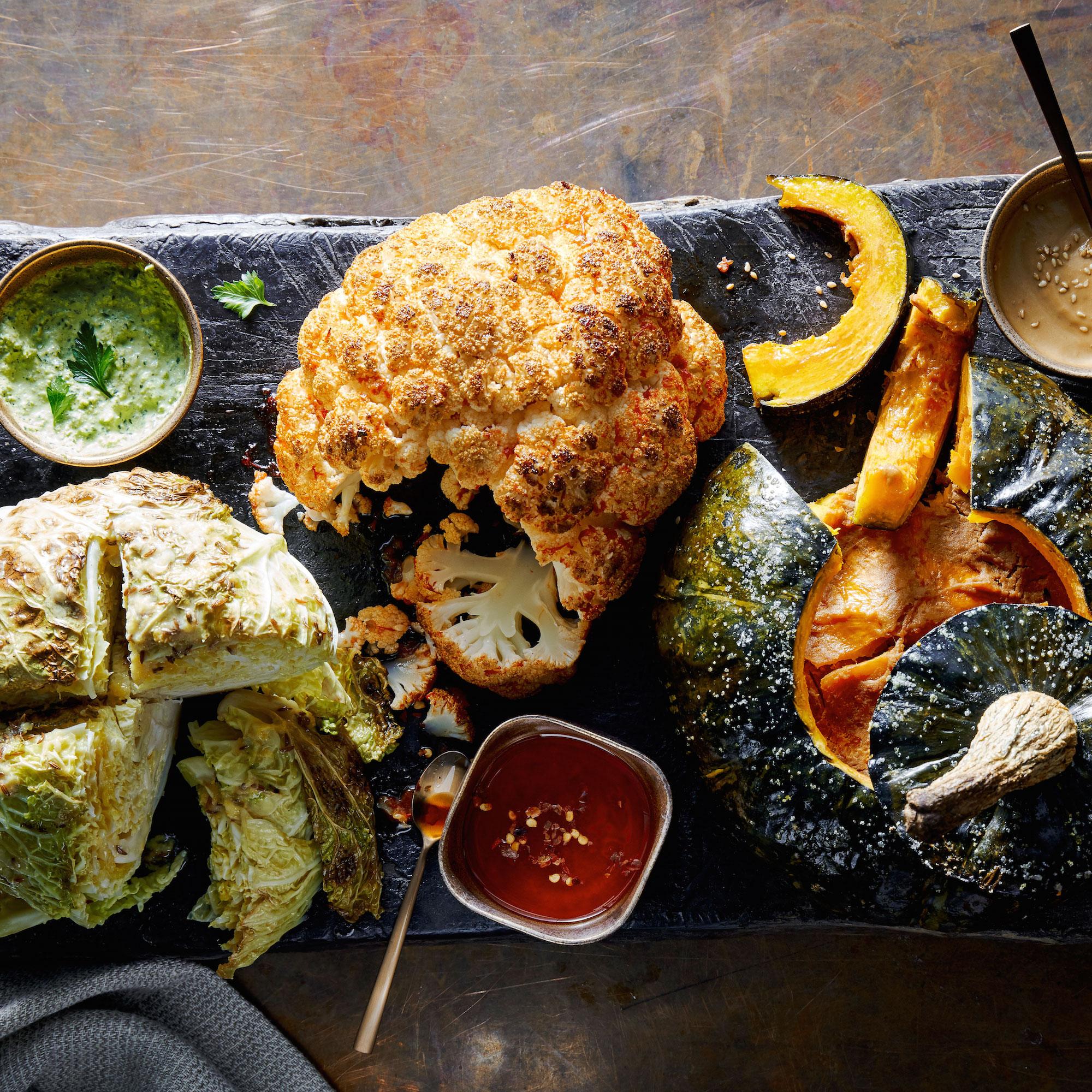 su-Platter of Roasted Whole Vegetables Image