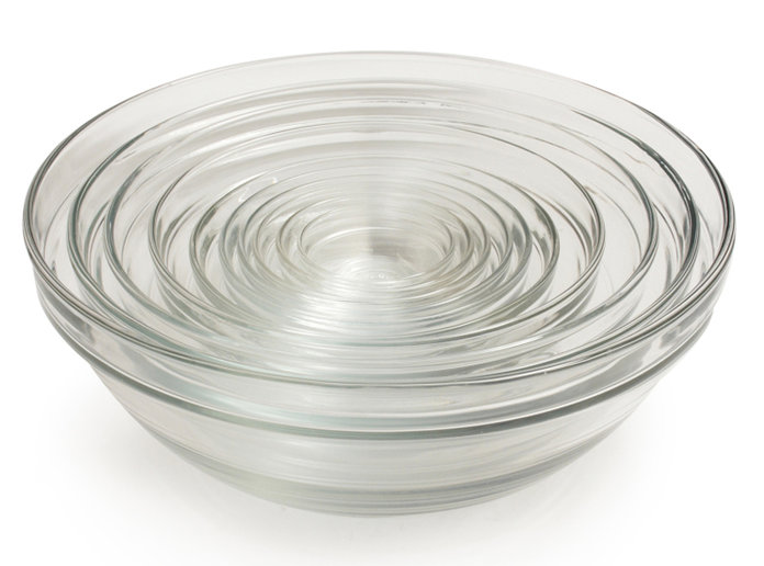 Clear mixing bowls