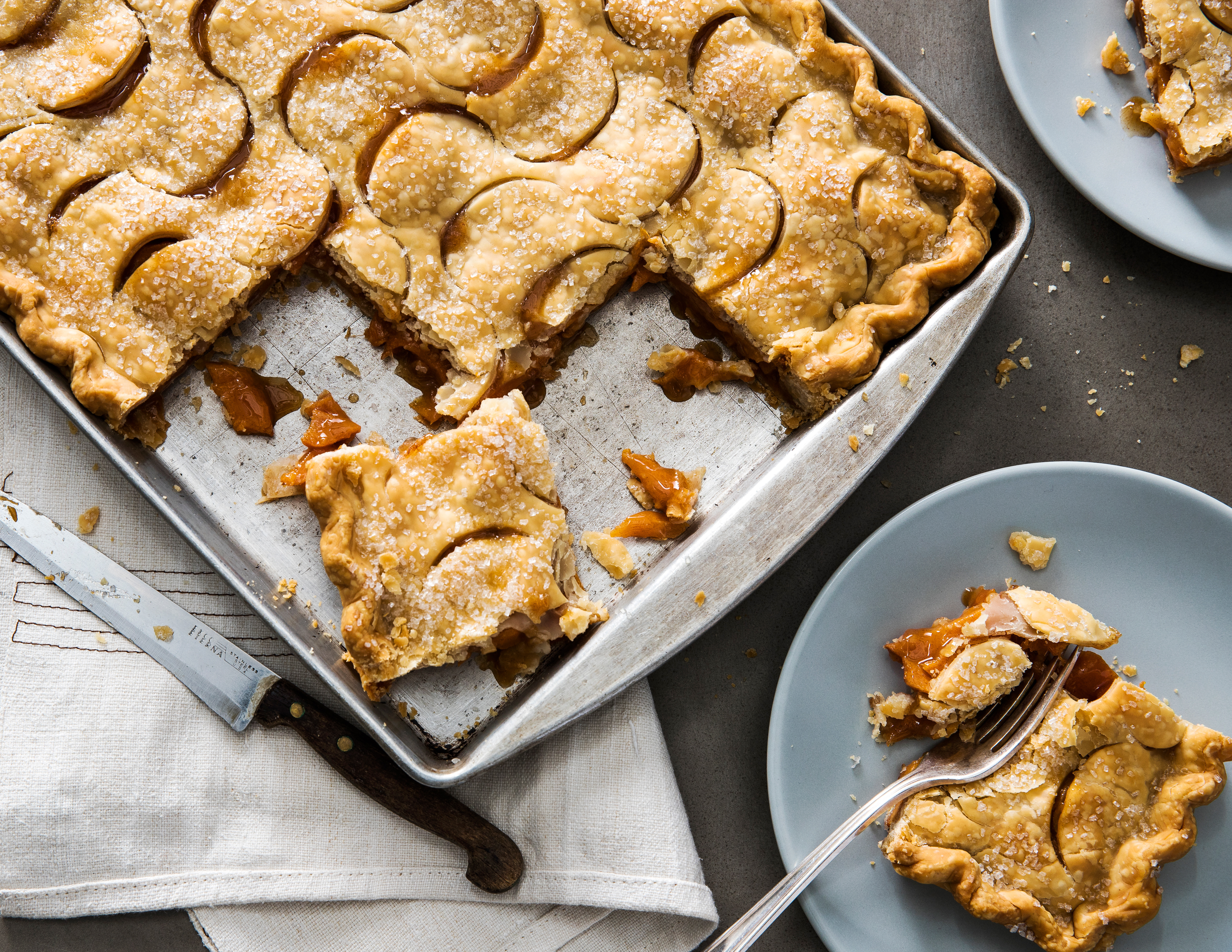 su-Spiced Persimmon Slab Pie