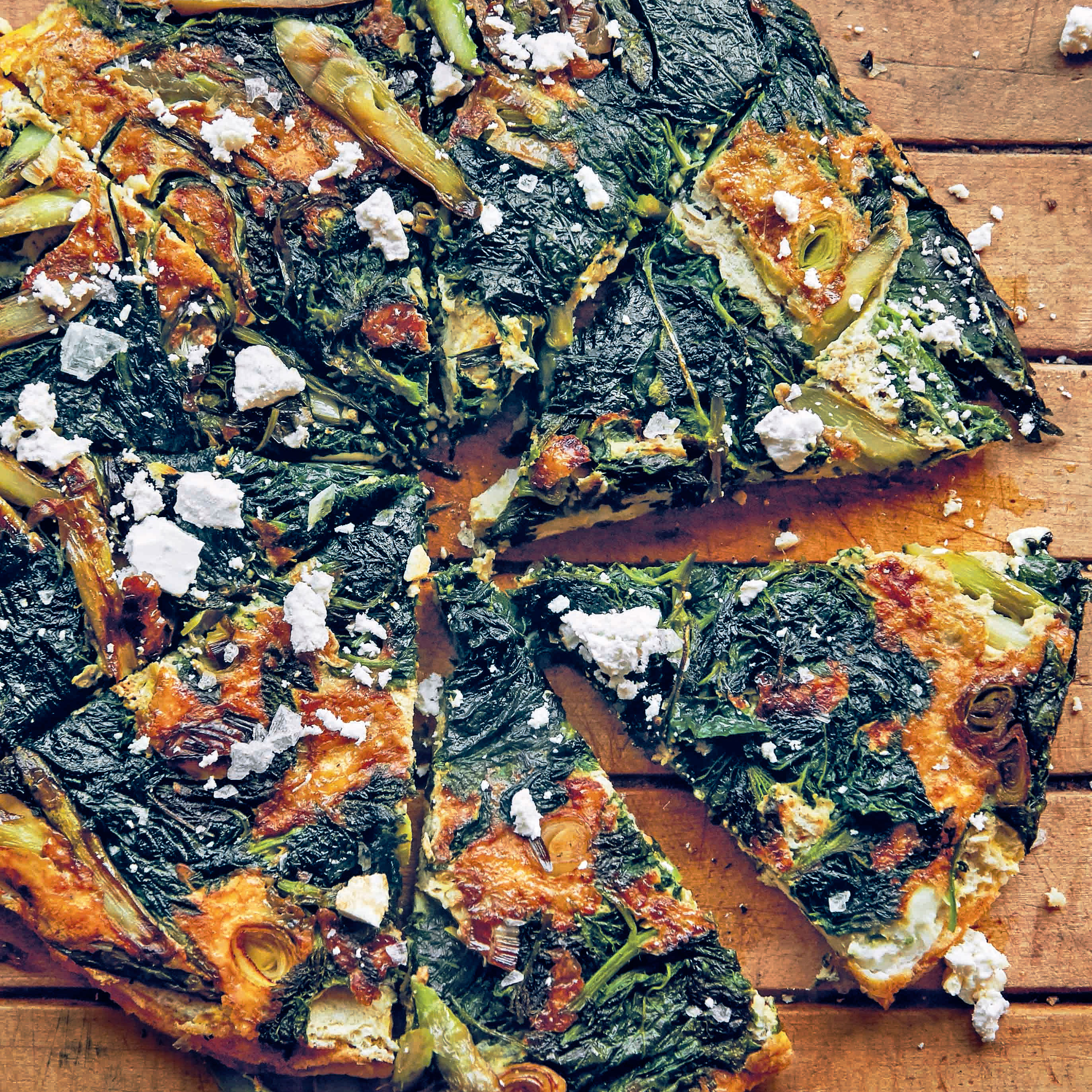 su-Asparagus, Nettle, and Green Garlic Frittata image