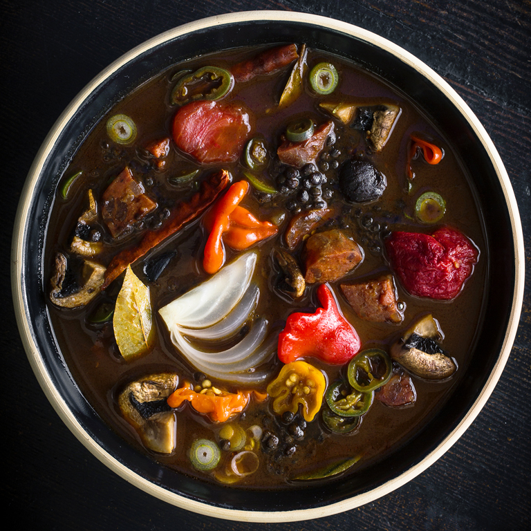 su-Black Garlic and Lentil Soup Image