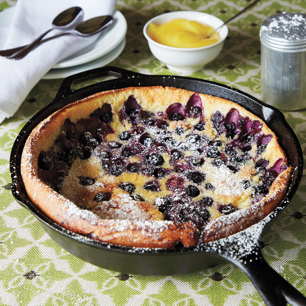 su-Blueberry Dutch Baby with Lemon Curd Image