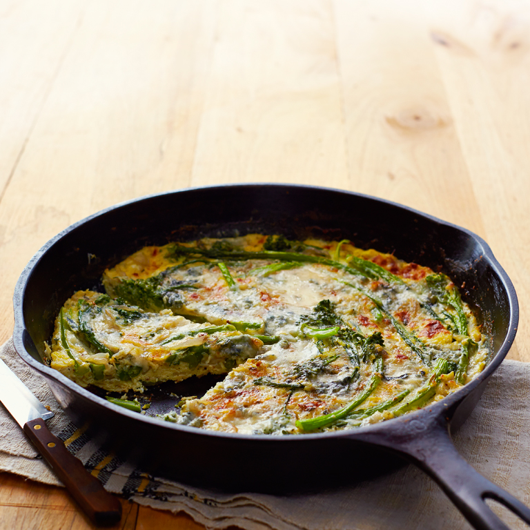 su-Broccolini and Blue Cheese Frittata Image