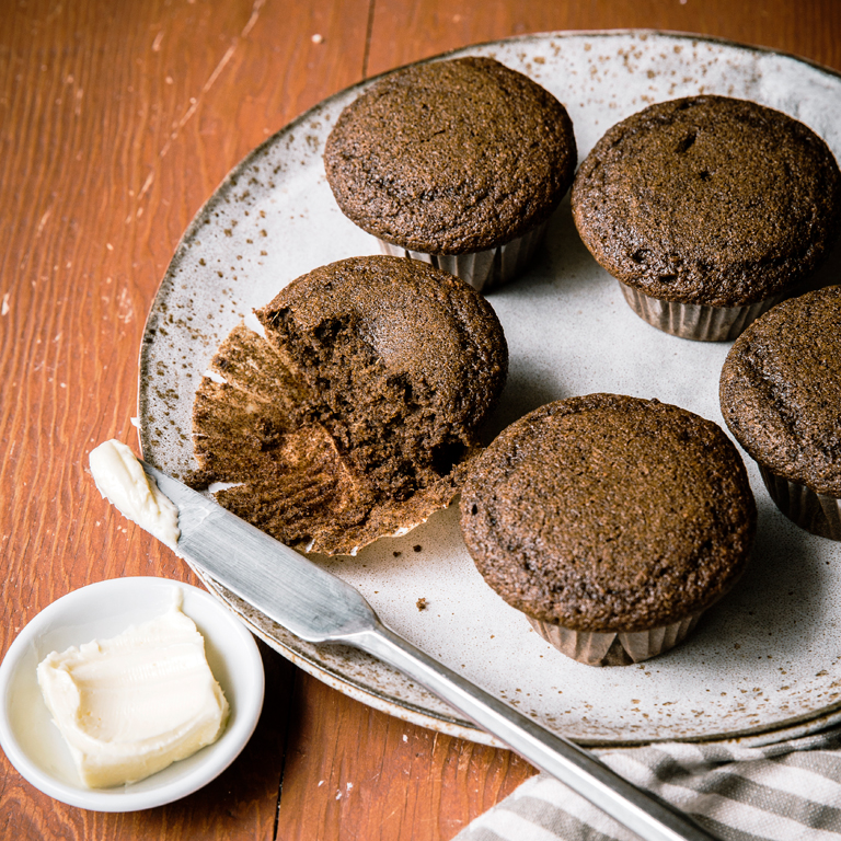 su-Buckwheat Gingerbread Muffins Image