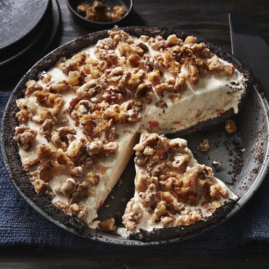 su-Candied-Orange Walnut Ice Cream Pie Image