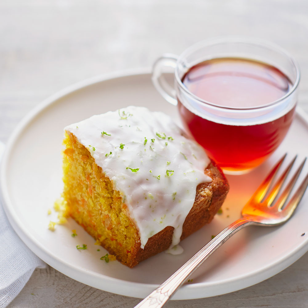 su-Carrot Ginger Tea Cake with Lime Glaze Image