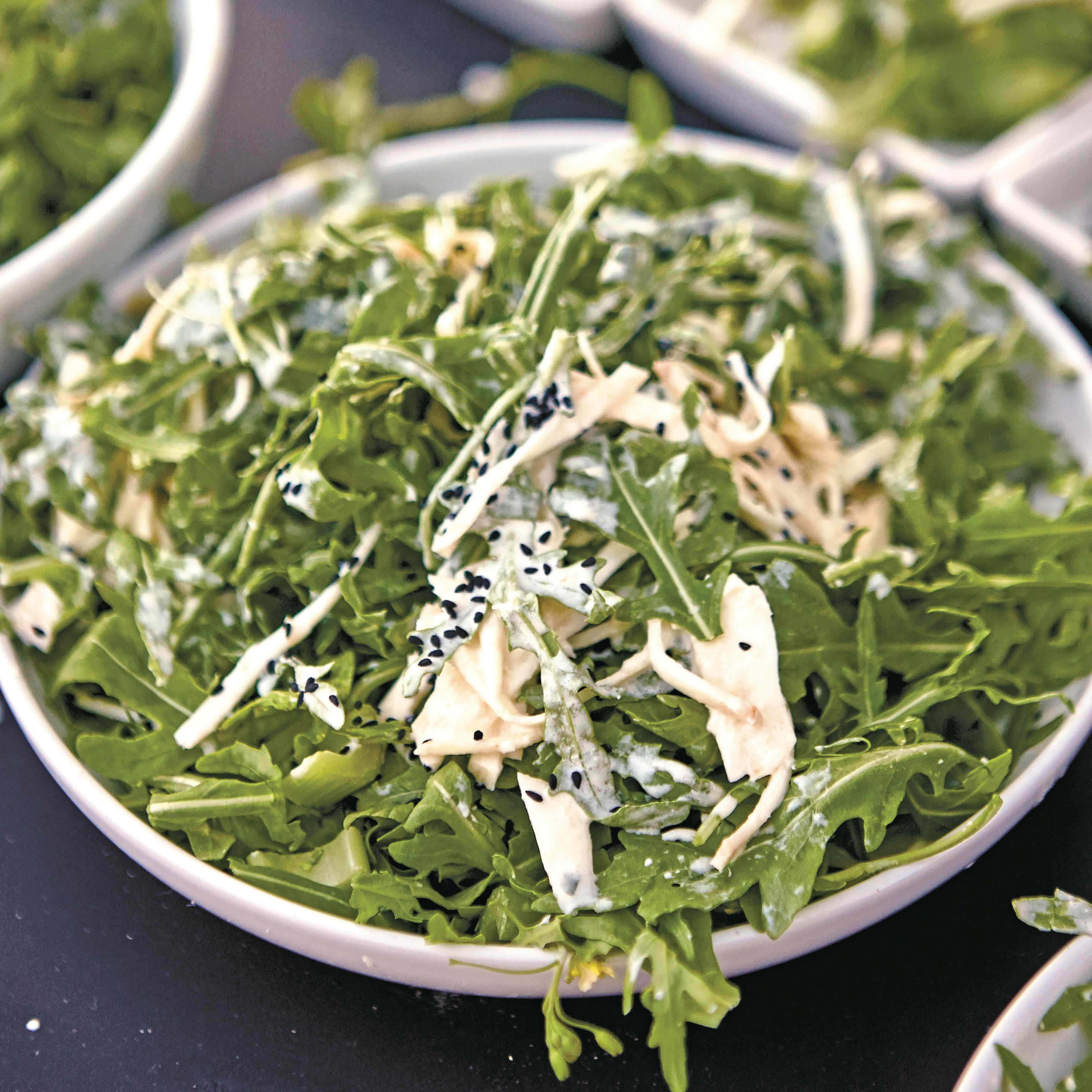 su-Celery Root Arugula Salad with Horseradish Dressing Image