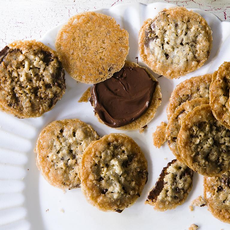 su-Chocolate Lace Sandwich Cookies Image