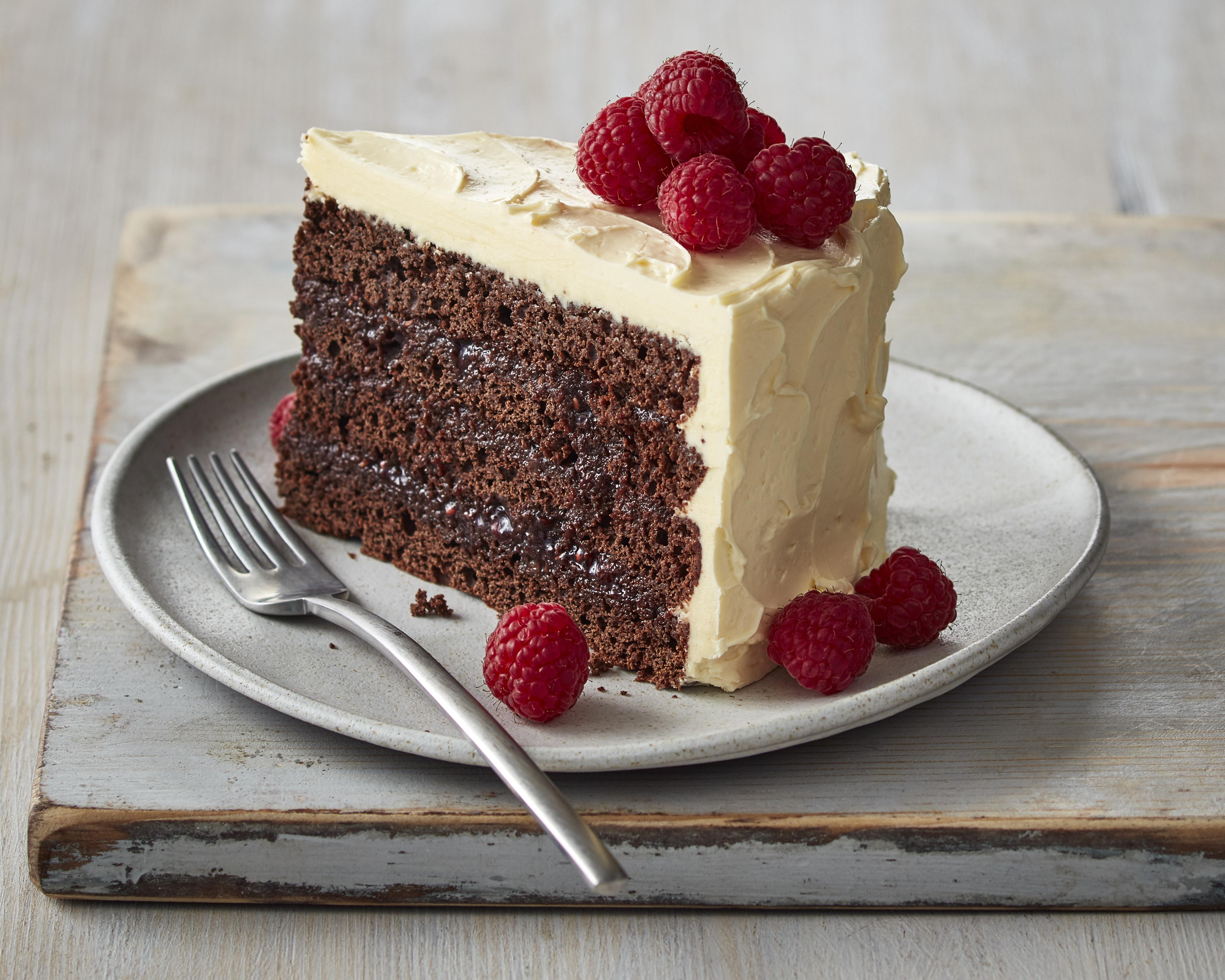 Chocolate Raspberry Cake - Icing On The Steak