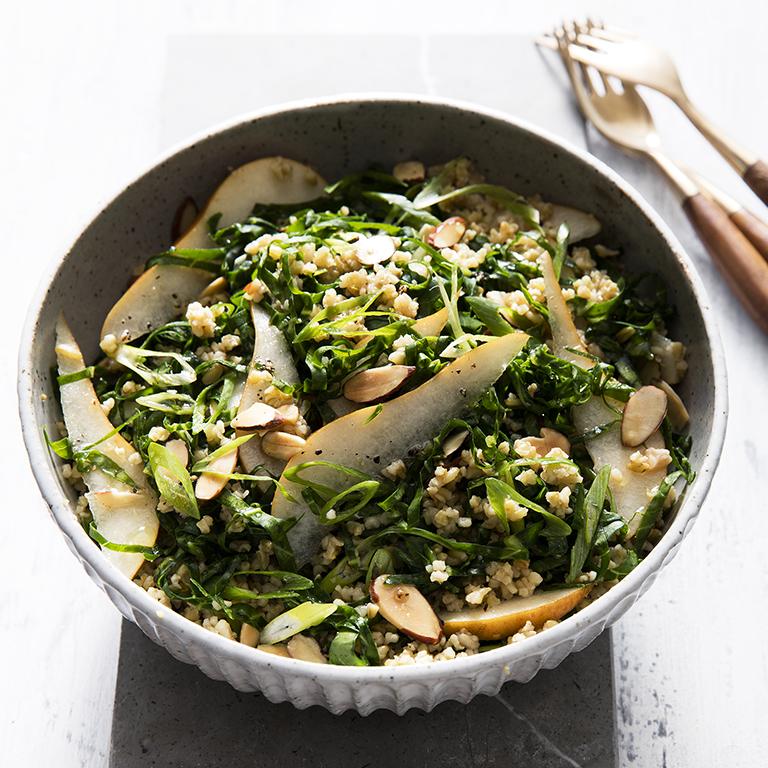 su-Collard Greens Salad with Freekeh Image