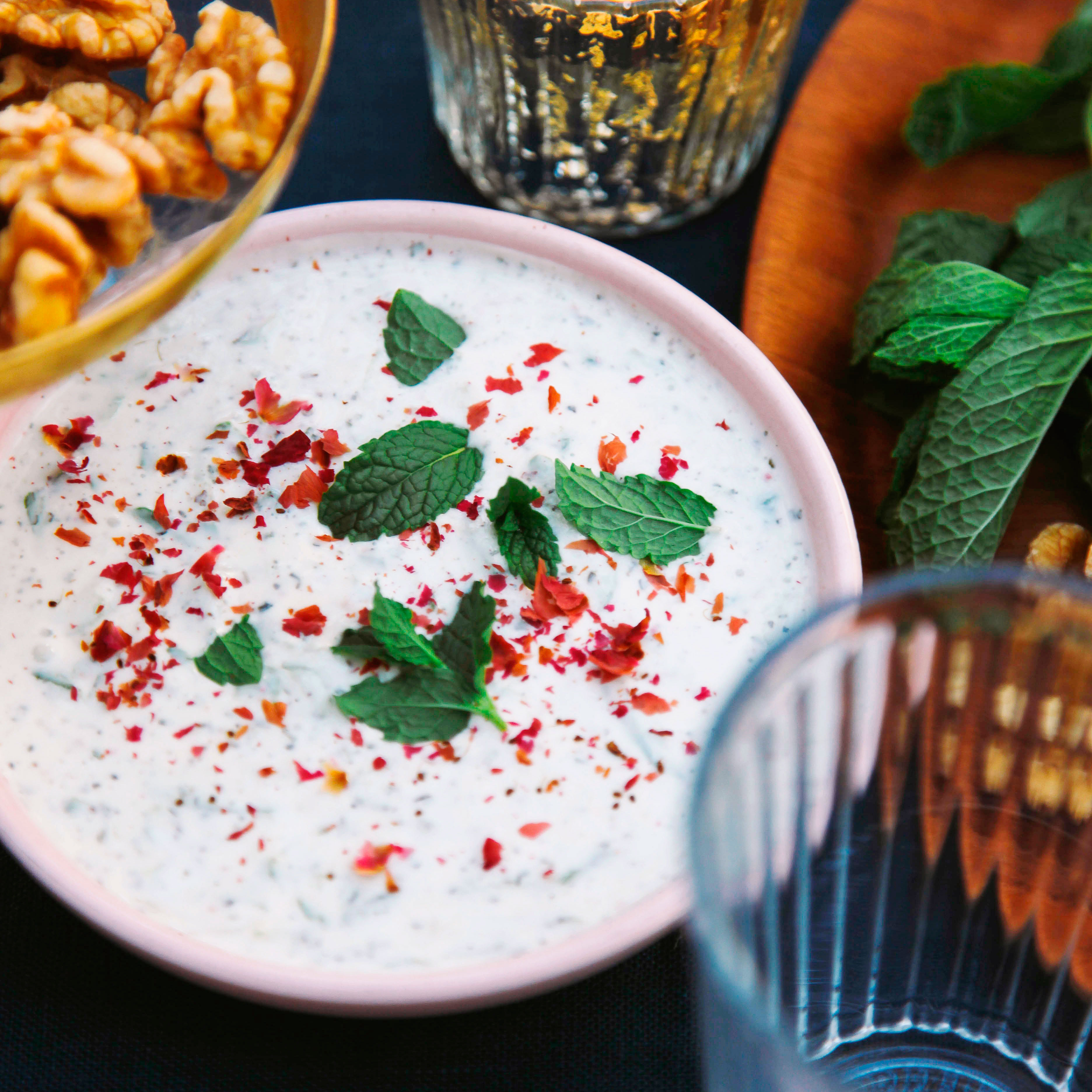 Cucumber yogurt with mint and rose mast o khiar recipe sunset cucumber yogurt with mint and rose mast o khiar forumfinder Gallery