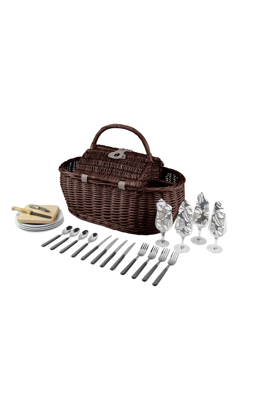 Picnic Time Gondola Wicker Picnic Basket