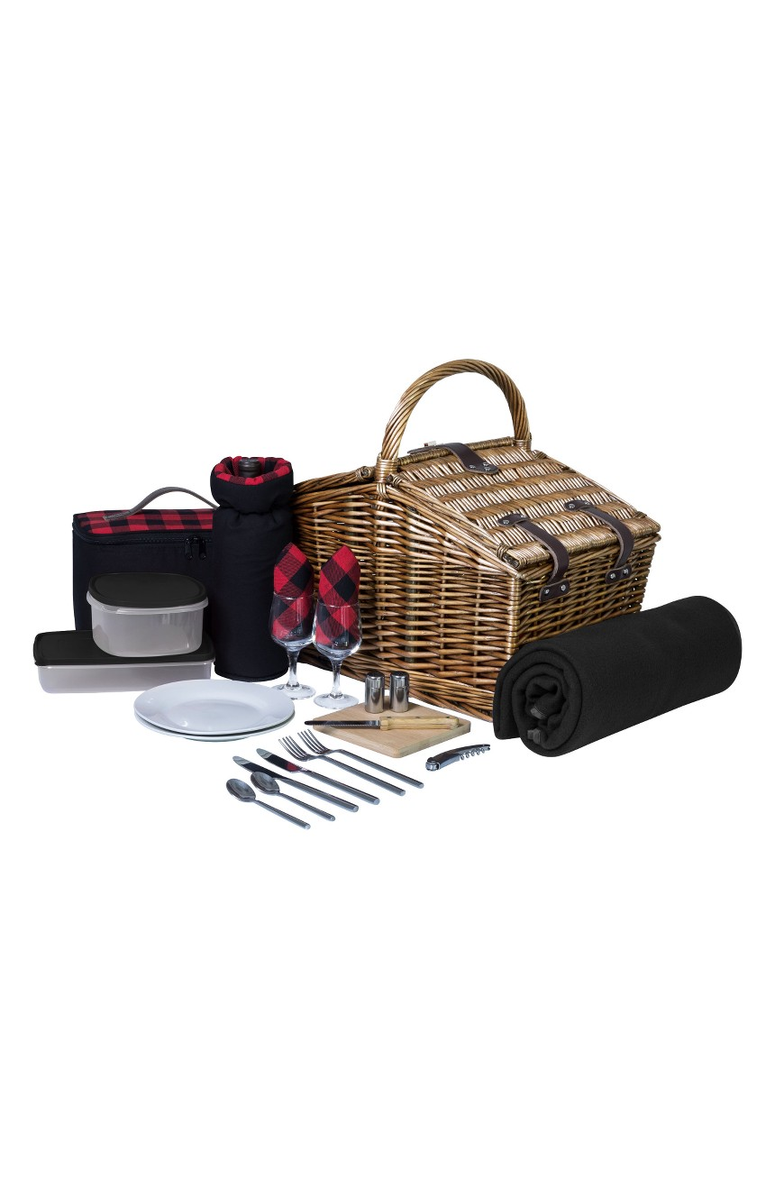 Picnic Time Somerset Wicker Picnic Basket