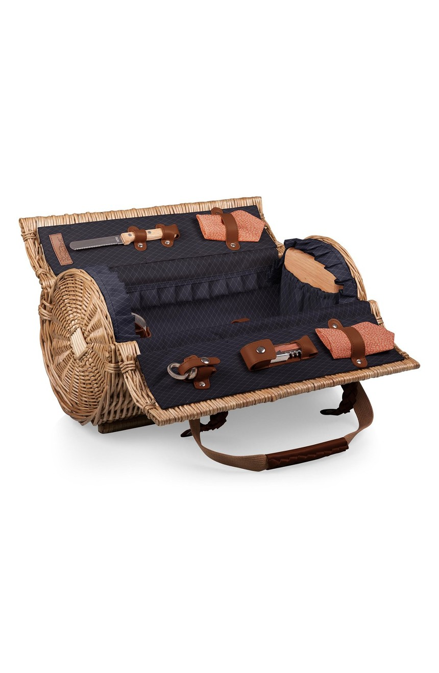 Picnic Time Verona Wicker Picnic Basket