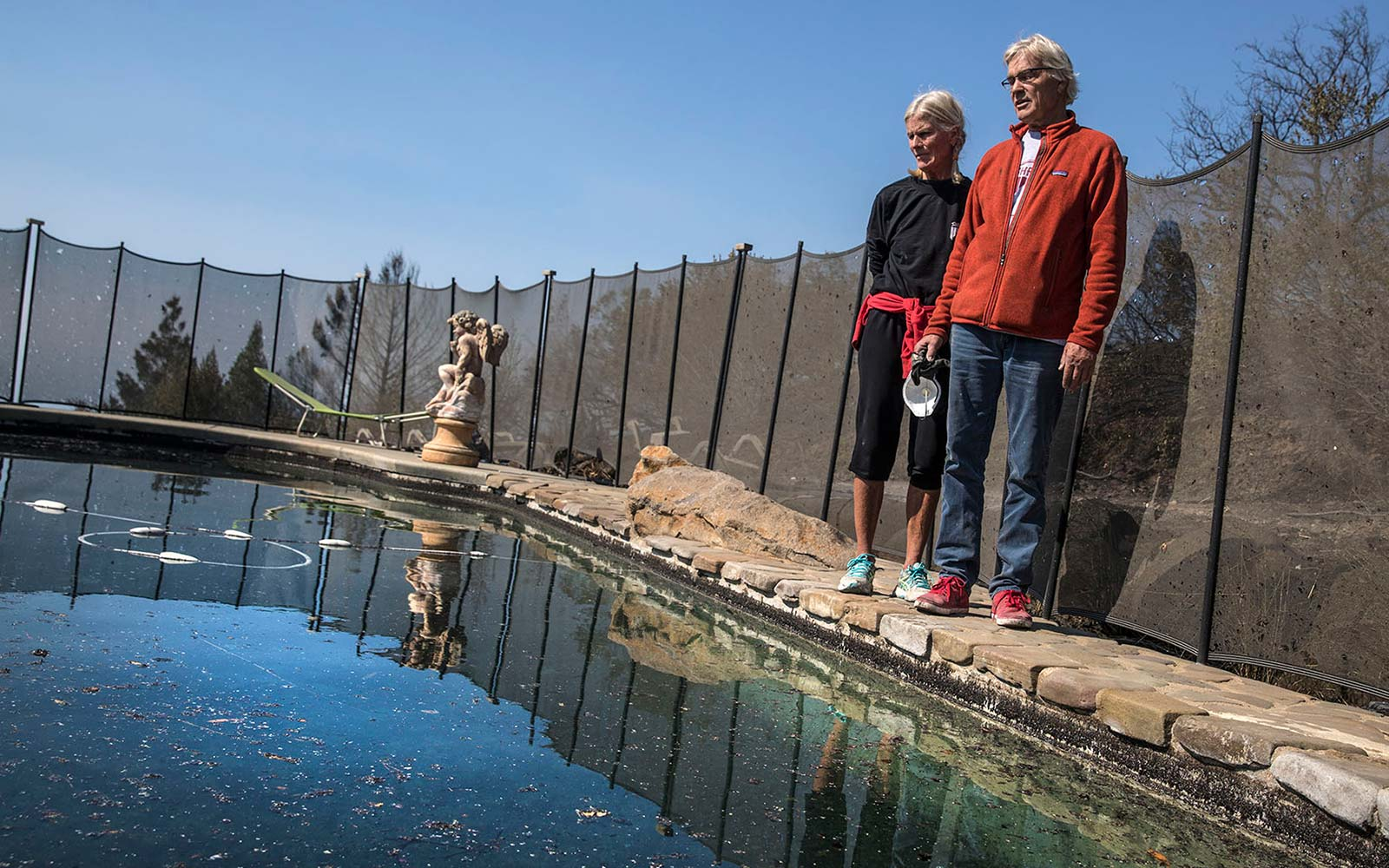 Couple Miraculously Survives California Wildfire in Neighbor's Pool
