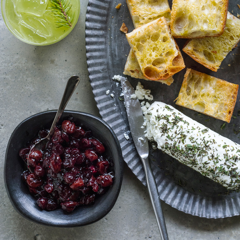 su-Five-Spice Cranberry Relish with Goat Cheese Image
