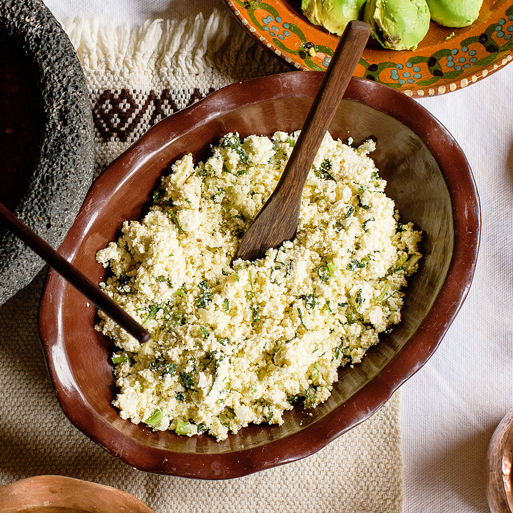 su-Fried Ricotta with Epazote and Green Chile Image