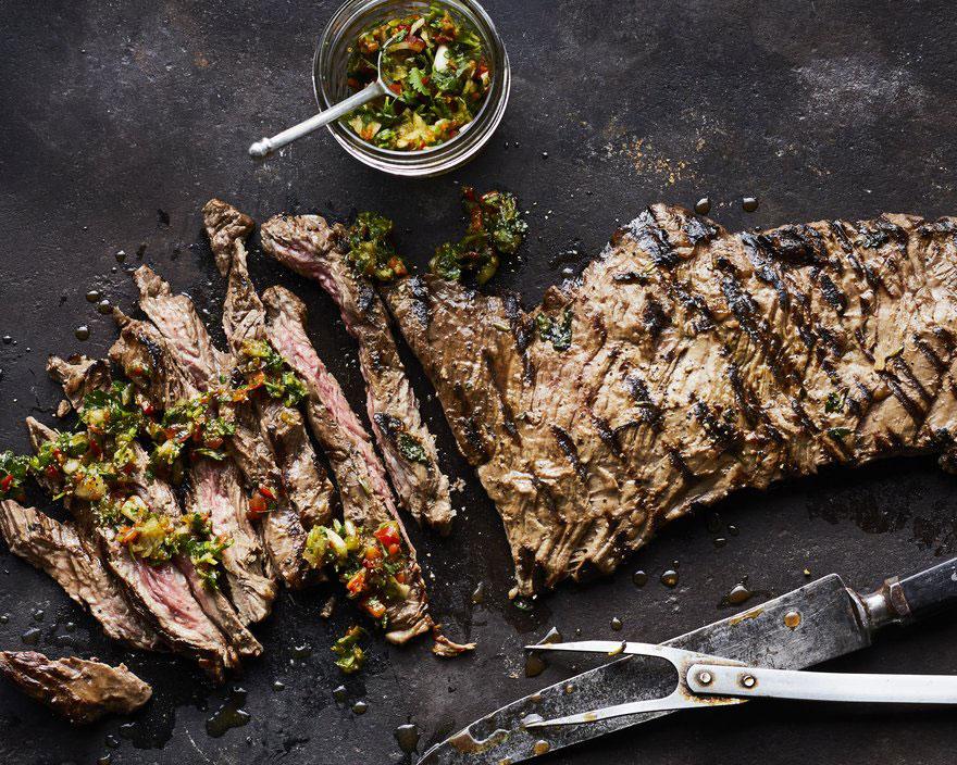 Gaucho Steak with Four-Herb Chimichurri