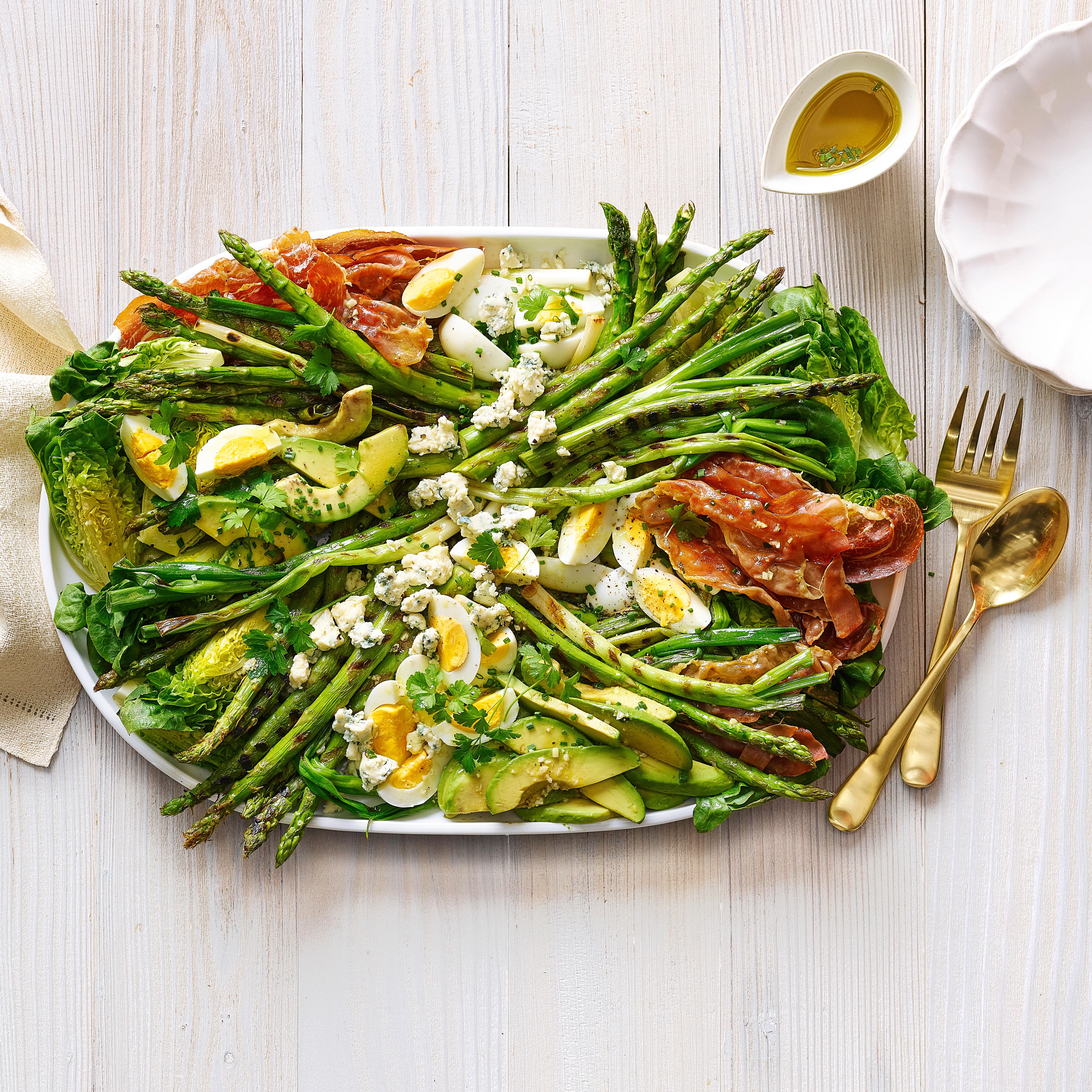 su-Grilled Asparagus Prosciutto Cobb Salad Image