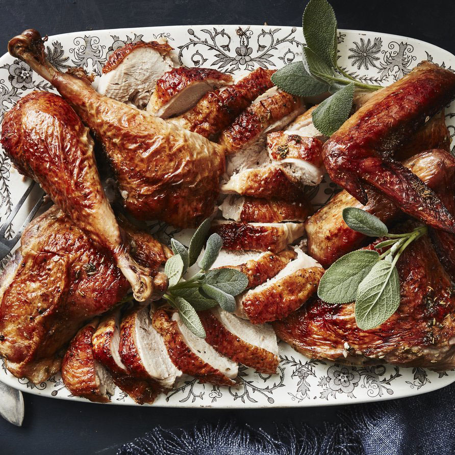 su-Grilled Butterflied Fennel-Garlic Turkey Image