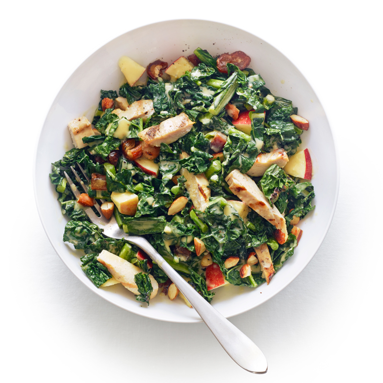 su-Grilled Chicken and Kale Salad with Tahini Lemon Dressing Image