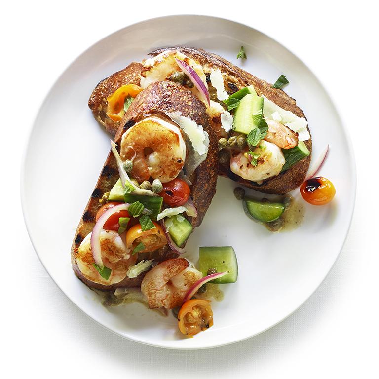 su-Grilled Panzanella with Shrimp Image