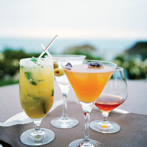 Drinks at at Sapphire Laguna in Lagna Beach California